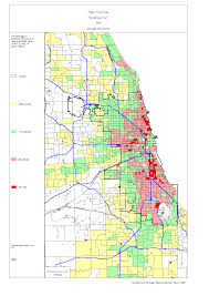 Green Line Chicago Map chicago 1990 census maps