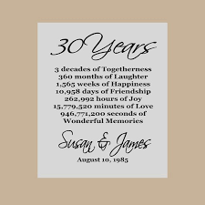 30 year anniversary gifts 30th anniversary gift pearl anniversary personalized 30th