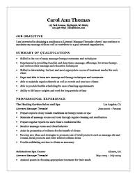 Job Objectives For Resume by 18 Free Massage Therapist Resume Templates