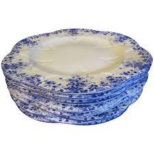 lovely bone china dinner plate dainty blue