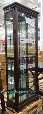 pulaski curio cabinet costco costco pulaski sliding door display cabinet 369 99 frugal hotspot