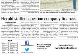 Cycle To Work At Rutland by Rutland Herald Fires News Editor Over Coverage Of Paper U0027s Woes