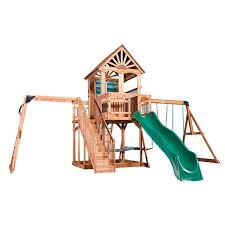 Big Backyard Savannah Playhouse by Oceanview Wooden Swing Set Playsets Backyard Discovery