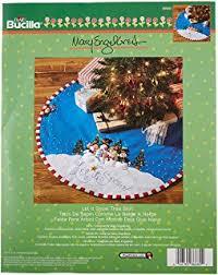 bucilla snowman tree skirt felt applique kit