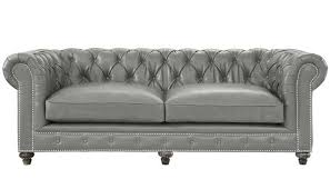 Rustic Leather Sofa by Tov Furniture Durango Rustic Grey Leather Sofa Tov S98 Only