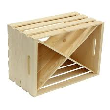 crates and pallet wood crate x divided insert unfinished 69013