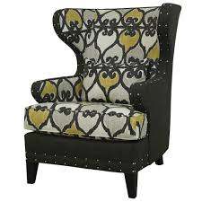furniture furniture wingback chairs design with cool patterned