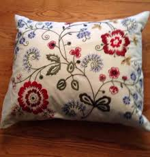 ikea alvine floral embroidered decorative throw pillow cushion