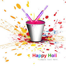 paint bucket for holi festival vector free download