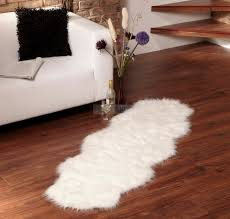 Rugs For Living Room by Decorating Beautiful Faux Sheepskin Rug For Floor Decoration