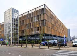 bamboo cladding for parking garage in amsterdam