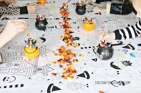 halloween printable coloring tablecloth crafting