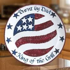 personalized bbq platter patriotic ceramic backyard bbq serving platter
