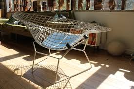 new this week large size harry bertoia diamond chair for knoll