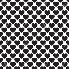 Monochrome Home Decor Monochrome Seamless Pattern With Hearts Texture For Scrapbooking