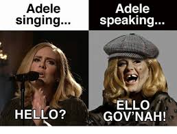 Adele Meme - adele adele singing speaking ello hello gov nah adele meme on