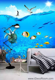 3d wallpaper turtle seagull fish wall murals bathroom decals wall 3d wallpaper turtle seagull fish wall murals bathroom decals wall art print home office decor