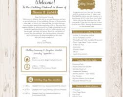 Destination Wedding Itinerary Template Welcome Itinerary Wedding Guest Welcome Letter Template