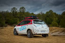 nissan micra rally car nissan leaf all terrain ev charges up for mongol rally w video