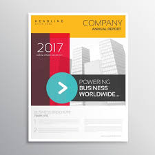 abstract shapes corporate brochure template vector free download