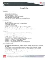 Mortgage Broker Resume About Me