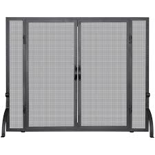 creative small single panel fireplace screen best home design