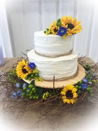 sunflower wedding cake cakecentral com
