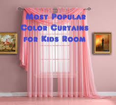 most popular color curtains for kids room or children bedroom