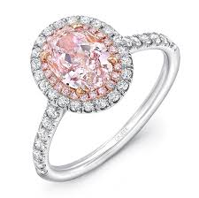 diamond pink rings images Uneek oval pink diamond engagement ring with pink diamonds and jpg