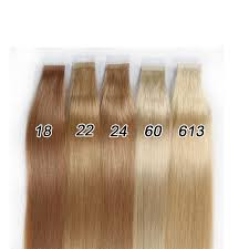 18 22 24 60 613 colors 8a blonde tape in human hair