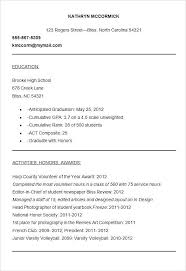 resume for college applications templates for resumes sle college application resumes best resume collection