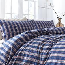 linea patterson check flannel duvet cover set times 27 00
