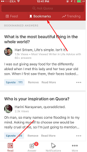 bookmarks on android where do i find bookmarks in quora app quora