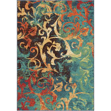 halloween area rugs orian rugs watercolor scroll multi colored area rug or runner