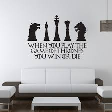 game of thrones home decor game of thrones win or die wall sticker game of thrones wall art