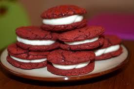 red velvet cake red velvet cake cookie sandwiches she bakes and