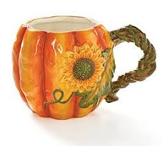 burton burton large 17oz autumn pumpkin shape coffee