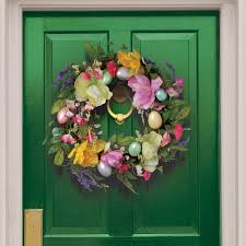 egg wreath national tree co 20 tulip and easter egg wreath reviews wayfair