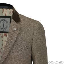 mens long coat wool mix herringbone tweed vintage trench overcoat