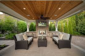 Outdoor Patio Ceiling Ideas by Riverbank Way Project Transitional Patio Toronto By Cedar