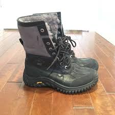 ugg s adirondack ii boots black 44 ugg shoes ugg adirondack ii black and grey boot from