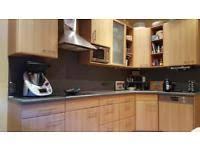 buche küche komplette nobilia küche fina mit elektrogeräten in buche hell in
