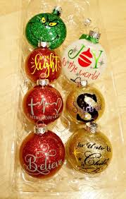 learn how to make personalized diy glitter ornaments leap of