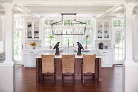 transitional kitchen designs design ideas wicker chairs with white countertop and bird