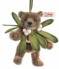 steiff teddy mistletoe ornament ean 036248