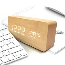 bedroom clocks wood alarm clocks modern wooden alarm clock voice control wood