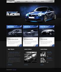 car racing website template 28760