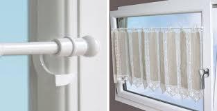 tringle rideau cuisine rideaux pour fenetre pvc tringle vitrage pression sans percer