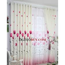 country style curtain with tulip floral patterned and polyester