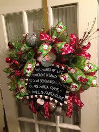santa claus wreath deco mesh ribbon lime green mesh